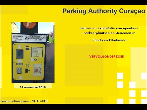 Video resultado investigashon Parking Authority Curaçao